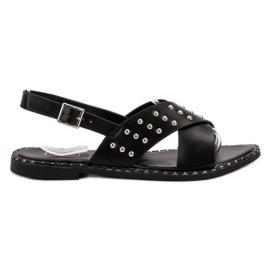 Filippo Modne rock sandale crna