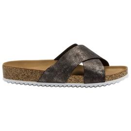 Kylie Udobne sive papuče siva