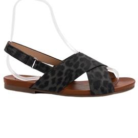 Kylie crna Sandale sa šljokicama