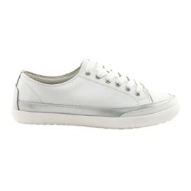 Ženske pletene sportske cipele Filippo 703 bijele i srebrne boje
