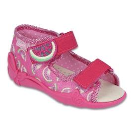 Rózsaszín Befado sárga gyermekcipő 342P004