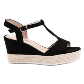 Seastar Crne sandale od espadrila crna