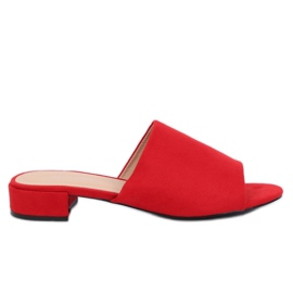 Crvena Ženske crvene papuče XW9093 Crvene