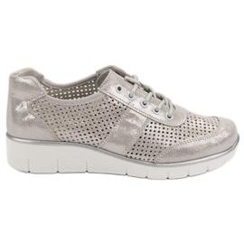 Filippo Otvorene cipele od kože siva