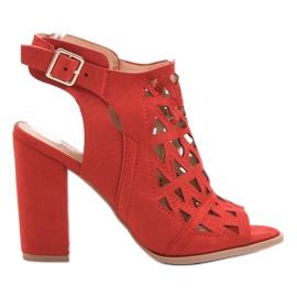 Chc Shoes crvena Otvorene, sagrađene sandale