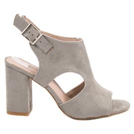 Vinceza siva Ugrađene sandale od Sandceze
