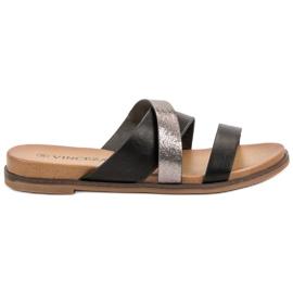 Vinceza crna Klasične papuče