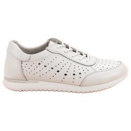 Kylie bijela Bijele kožne cipele