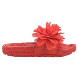 Seastar Crvene papuče s cvijećem crvena