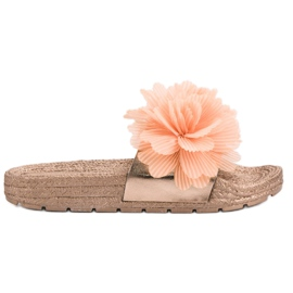 Seastar Narančaste papuče s cvijećem