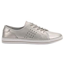 Kylie Čipkaste kožne cipele siva