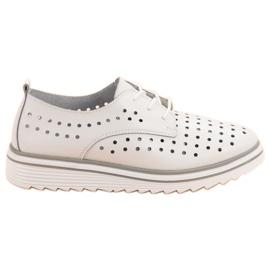 Kylie bijela Kožne otvorene cipele