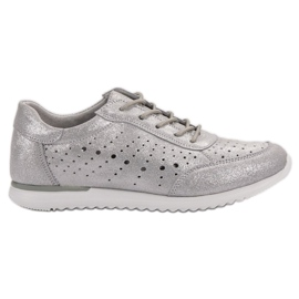 Kylie Srebrne cipele od kože siva
