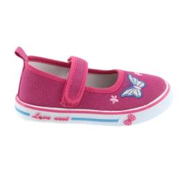 Rózsaszín balerina cipők Atletico bőr talpbetét