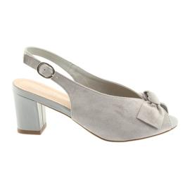 Siva Suede kožne sandale Sergio Leone 801