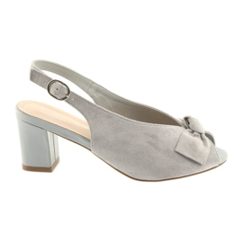 Suede kožne sandale Sergio Leone 801 siva