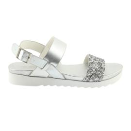 Udobne srebrne sandale Filippo 685 siva