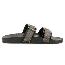 Seastar Crne papuče s kristalima crna