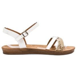 Seastar Modne ravne sandale bijela