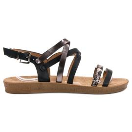 Seastar crna Modne crne sandale