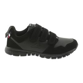 Crna Velcro sportske cipele American Club FH16 crne