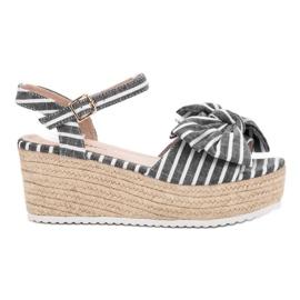 Seastar siva Sandale s klinom s lukom