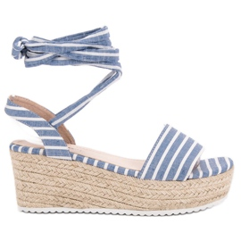 Seastar plava Sandale s remenima s klinom