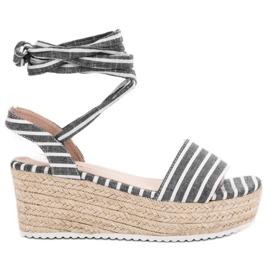 Seastar siva Sandale s remenima s klinom