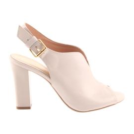 Roze Sandale na postu Espinto 195 puder ružičaste boje