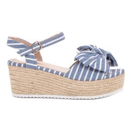 Seastar plava Sandale s klinom s lukom