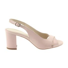 Roze Ženske sandale na post Badura 4728 puder ružičaste boje