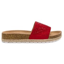 Seastar Crvene papuče s cirkonima crvena