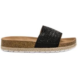 Seastar crna Crne papuče s cirkonima