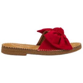 Seastar Crvene papuče s lukom crvena