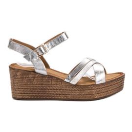Seastar Lagane sandale na klin siva
