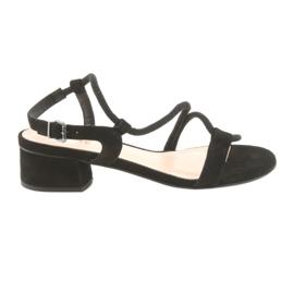 Crne sandale visoke potpetice Edeo 3386 crna