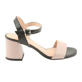 Ženske sandale Edeo 3339 u prahu / crne