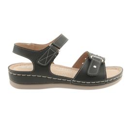Crna Sandale za žene udobne DK 25131 crne