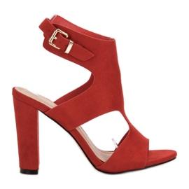 Ideal Shoes crvena Seksi visoke potpetice