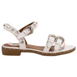Small Swan bijela Bijele sandale sa štiklama