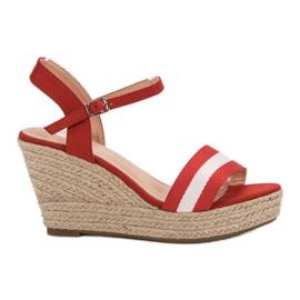 Primavera crvena Ležerne sandale s klinom