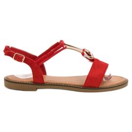 Laura Mode crvena Suede sandale