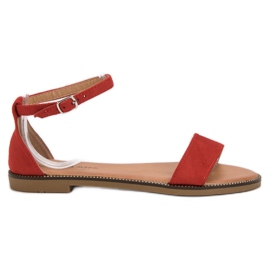 Laura Mode crvena Klasične ravne sandale