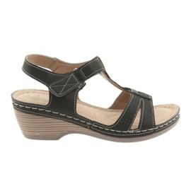 Udobne ženske sandale DK crna