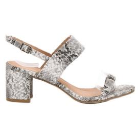 Ideal Shoes siva Modne ženske sandale