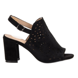 SHELOVET crna Sandale ugrađene sandale