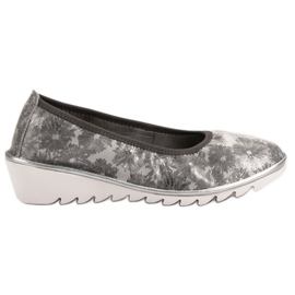 Filippo siva Svjetlo sive kožne baletne cipele
