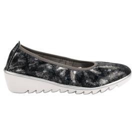 Filippo Mornarske kožne baletne cipele plava