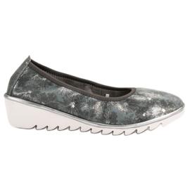Filippo siva Tamno sive kožne baletne cipele