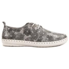 Filippo szürke Kötött bőr cipő